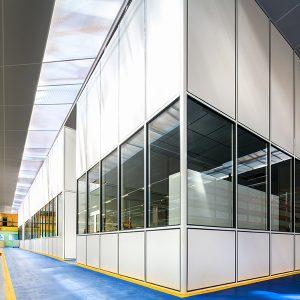 Cloison grande hauteur - cloison industrielle H5-Cloisons-hoyez-H5-grandes-hauteurs-amenagement-industriel-entrepot