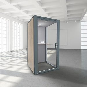 Box acoustiques myO - acoustic boxes - phone-box-myO-myOpenspace-ossature-grise-d
